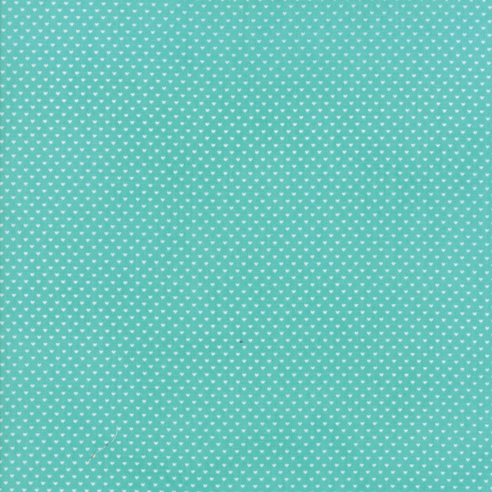Aqua Swiss Heart Fabric from Home Sweet Home Collection at Cherry Creek Fabric
