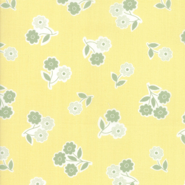 Yellow Handpicked Bouquet Fabric