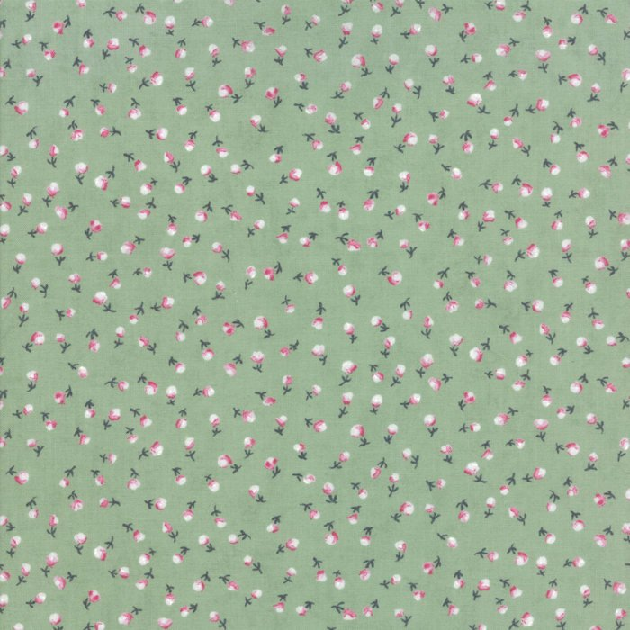 Light Green Flower Fabric from Freya & Friends Collection at Cherry Creek Fabric