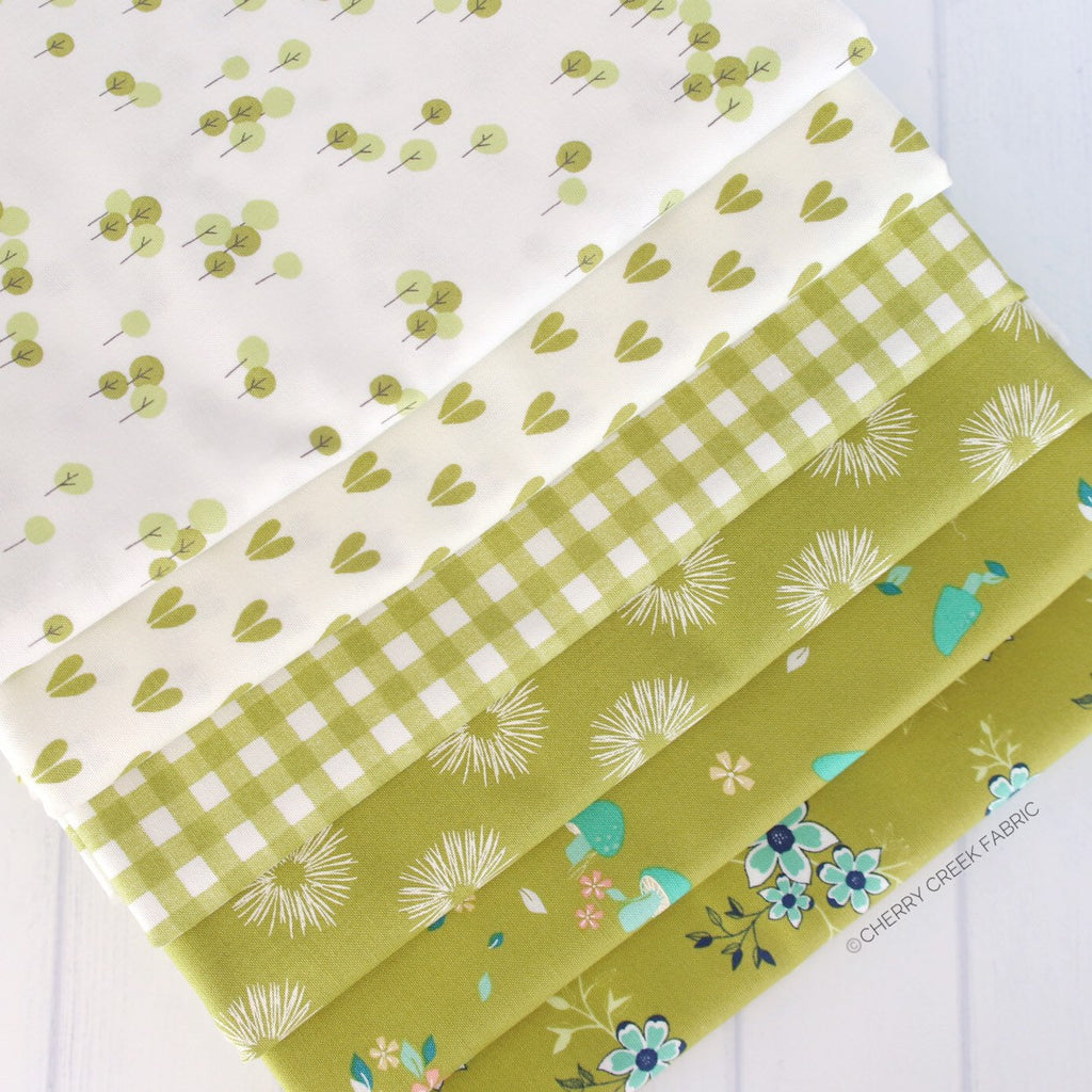 Woodland Secrets Green One Yard Bundle from Woodland Secrets Collection at Cherry Creek Fabric