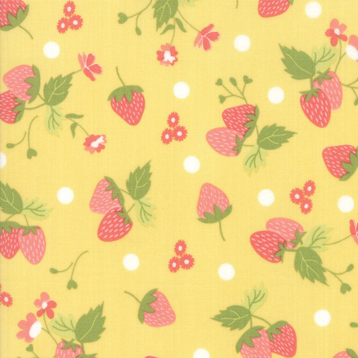 Strawberry Jam Fabric - Yellow Strawberry Fabric - Corey Yoder - Moda Fabric - Strawberries Fabric - Yellow Fabric - Fabric by the Yard from Cherry Creek Fabric & Crafts Collection at Cherry Creek Fabric