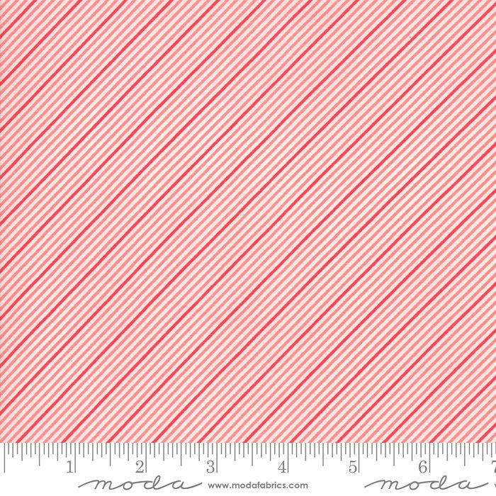 Coral Stripes Fabric from Coledale Collection at Cherry Creek Fabric