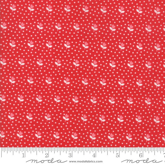 All Weather Friend | Red Flower Bud Fabric from All Weather Friend Collection at Cherry Creek Fabric