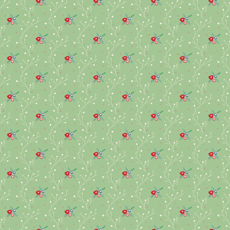 Green Winter Vine Fabric