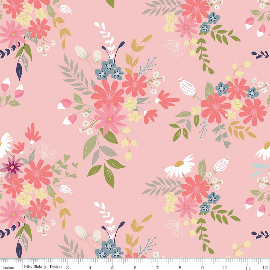 Pink Meadow Fabric