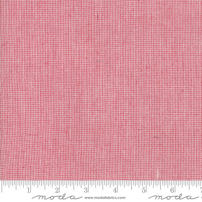 Red Mini Check Woven Fabric from Oxford Collection at Cherry Creek Fabric