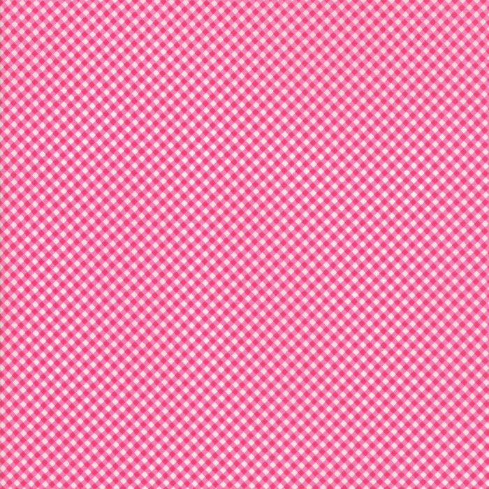 Raspberry Gingham Fabric