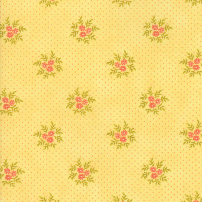 Yellow Floral Posies Fabric</br>END OF BOLT </br>1 yds + 14""