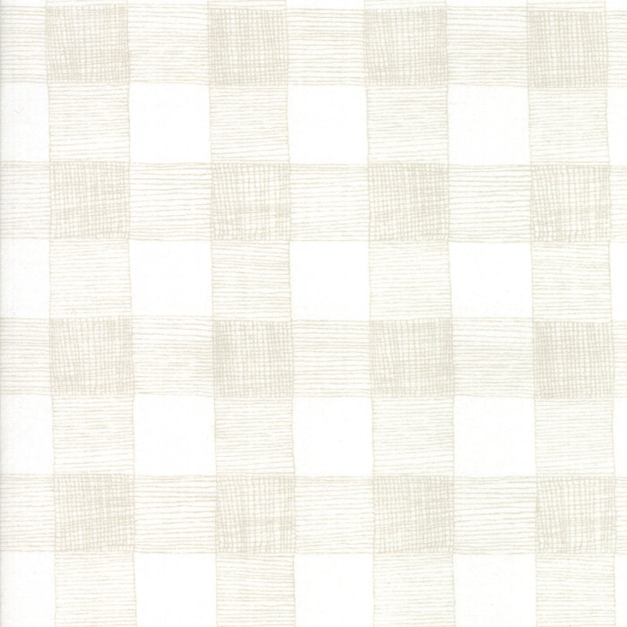White Rustic Gingham Fabric
