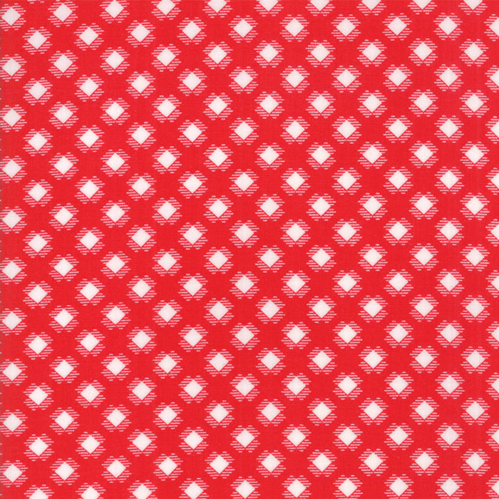 Red Gingham Kisses Fabric