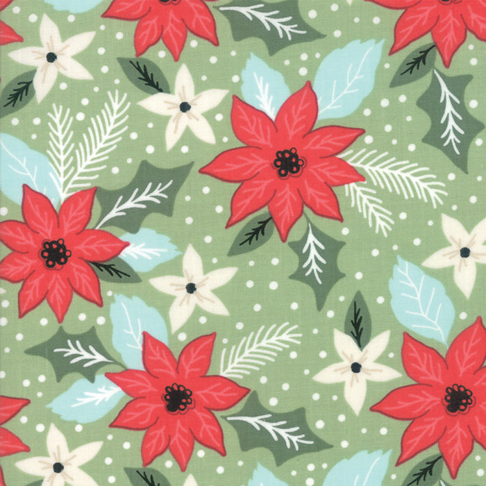 Little Tree by Lella Boutique | Green Christmas Bouquet Fabric