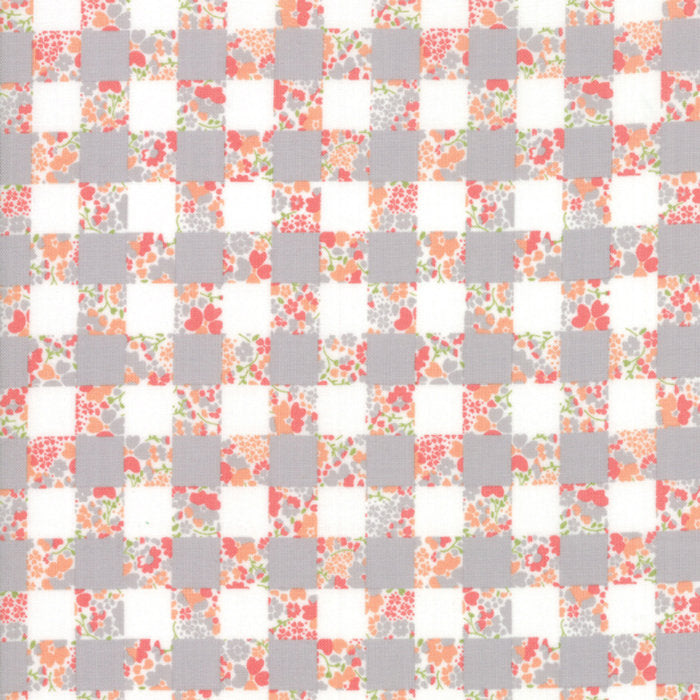 Strawberry Jam Fabric - Grey Gingham Garden Fabric - Corey Yoder - Moda Fabric - Floral Fabric - Flower Fabric - Fabric by the Yard from Cherry Creek Fabric & Crafts Collection at Cherry Creek Fabric