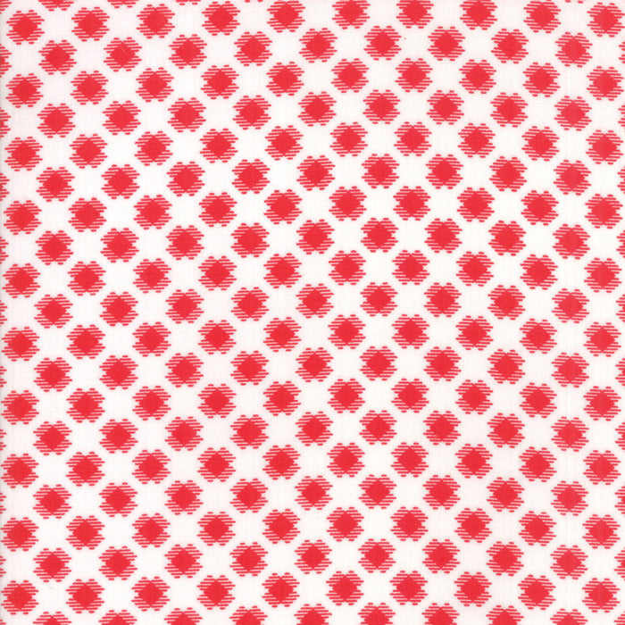 White Gingham Kisses Fabric