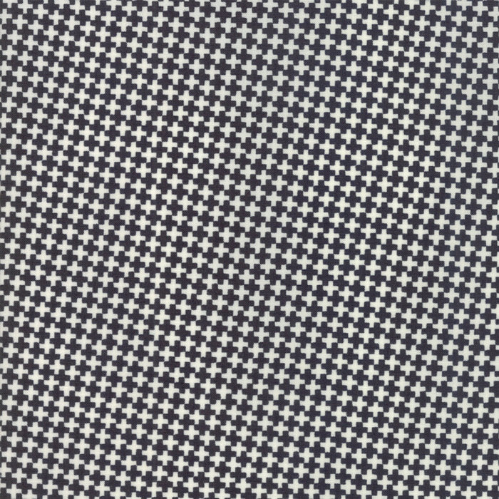 Black Mini Crisscross Fabric from Farmhouse II Collection at Cherry Creek Fabric