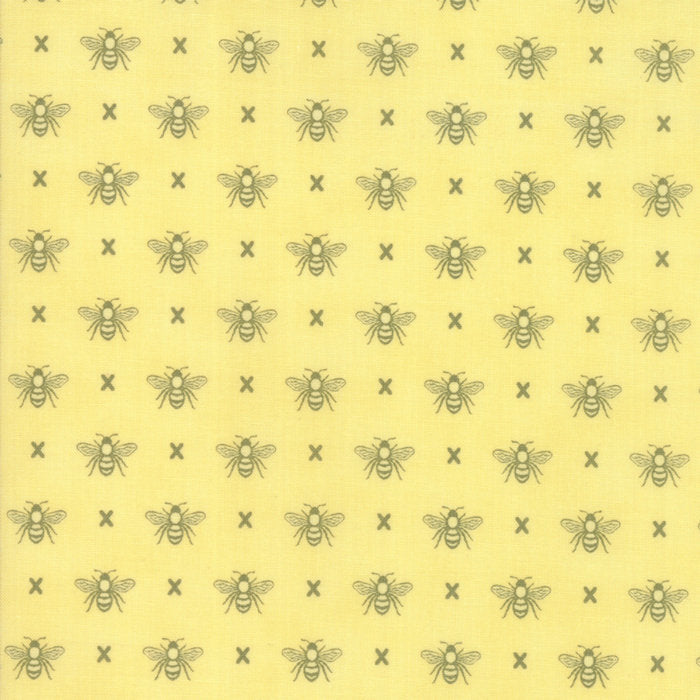Yellow Queen Bee Fabric