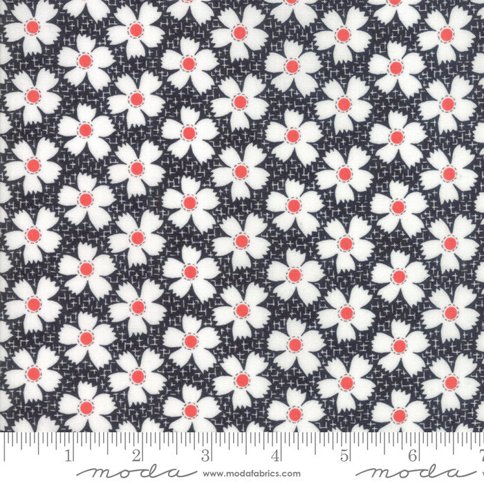 Black Gingham Daisies Fabric from Farmhouse II Collection at Cherry Creek Fabric