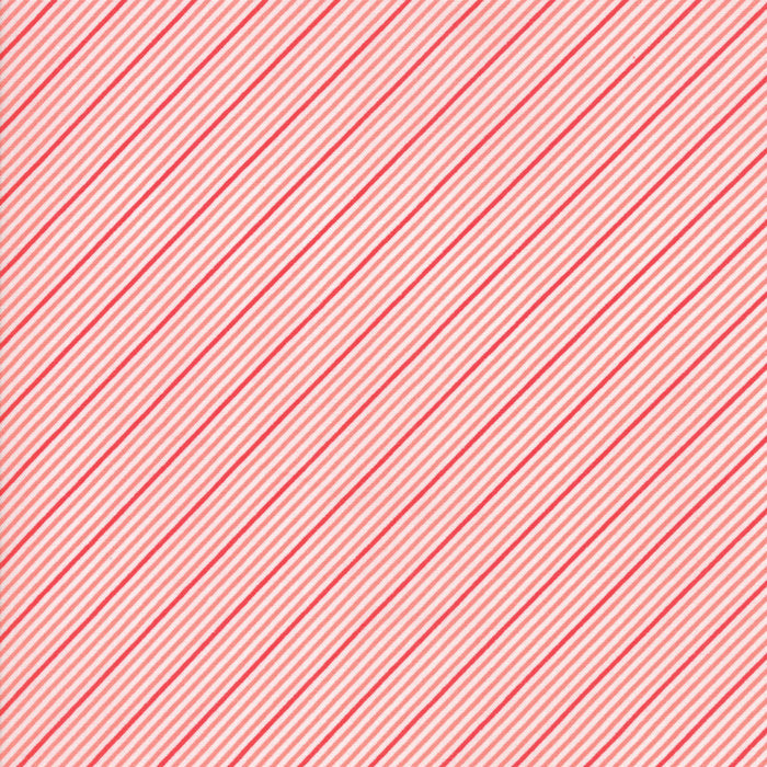 Coral Stripes Fabric