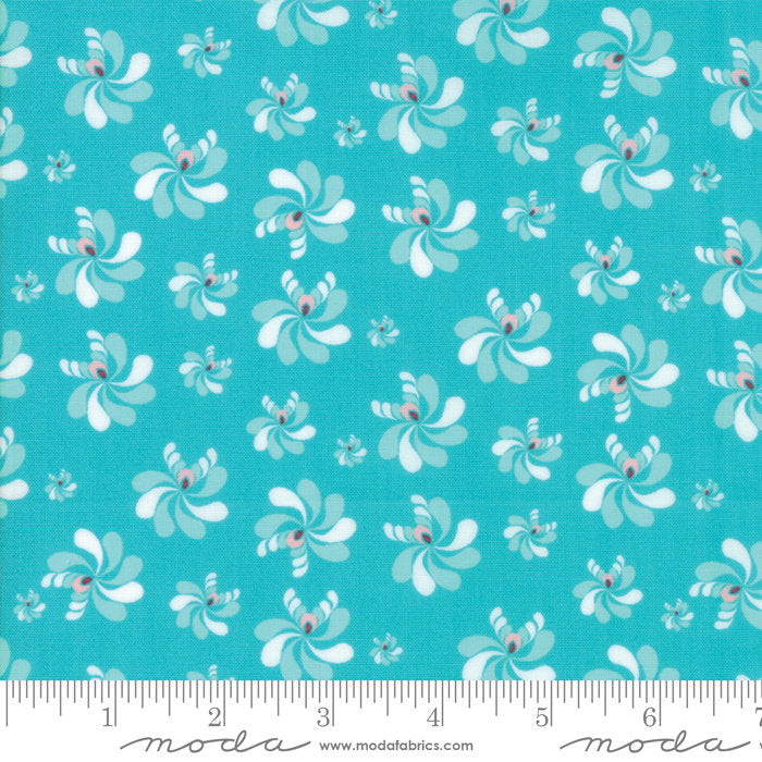 Turquoise Native Seeds Fabric from Coledale Collection at Cherry Creek Fabric