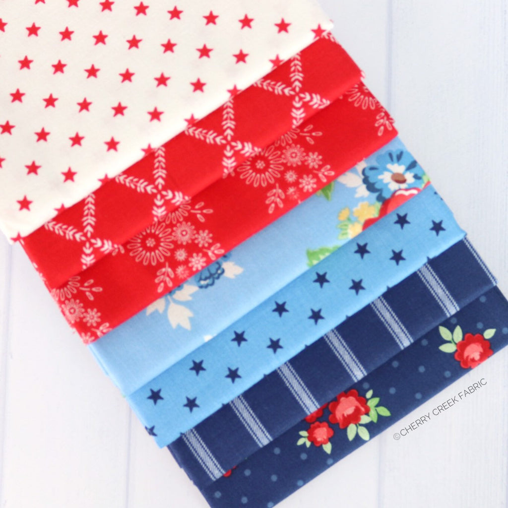Harry & Alice Mini Fat Quarter Bundle - 7 pieces