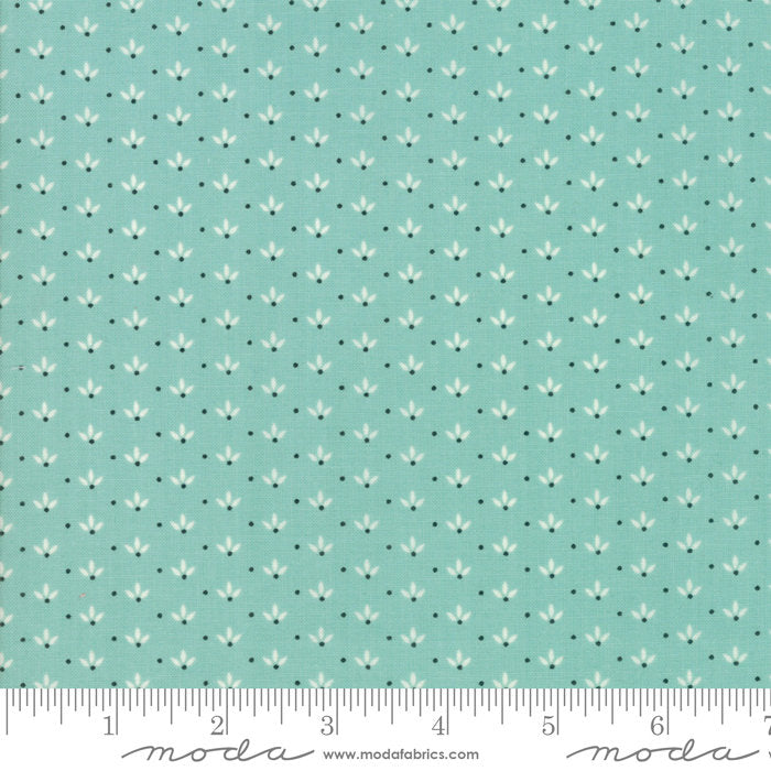 Aqua Dandelion Fabric from Farmhouse II Collection at Cherry Creek Fabric