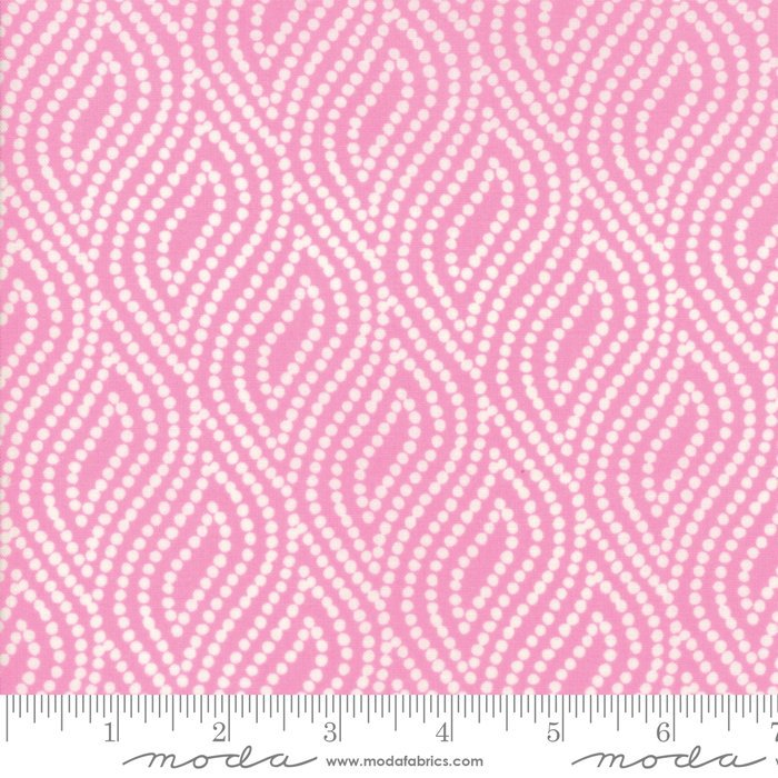 Pink Dotted Floral Fabric from Lazy Days Collection at Cherry Creek Fabric