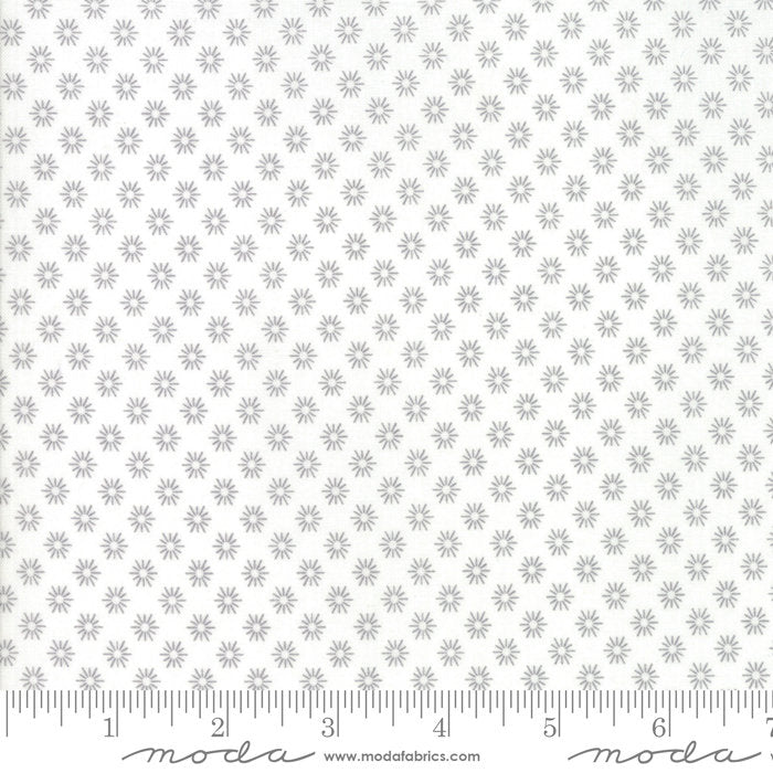 Grey Floral Sunshine Fabric from Sunnyside Up Collection at Cherry Creek Fabric