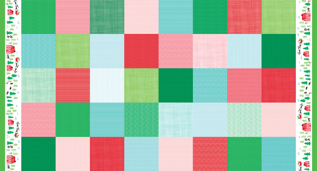 Multi Patchwork Fabric from The North Pole Collection at Cherry Creek Fabric