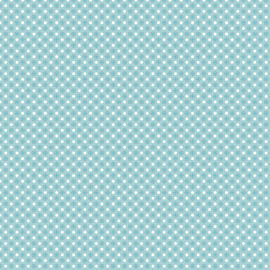 Blue Polka Dots Fabric