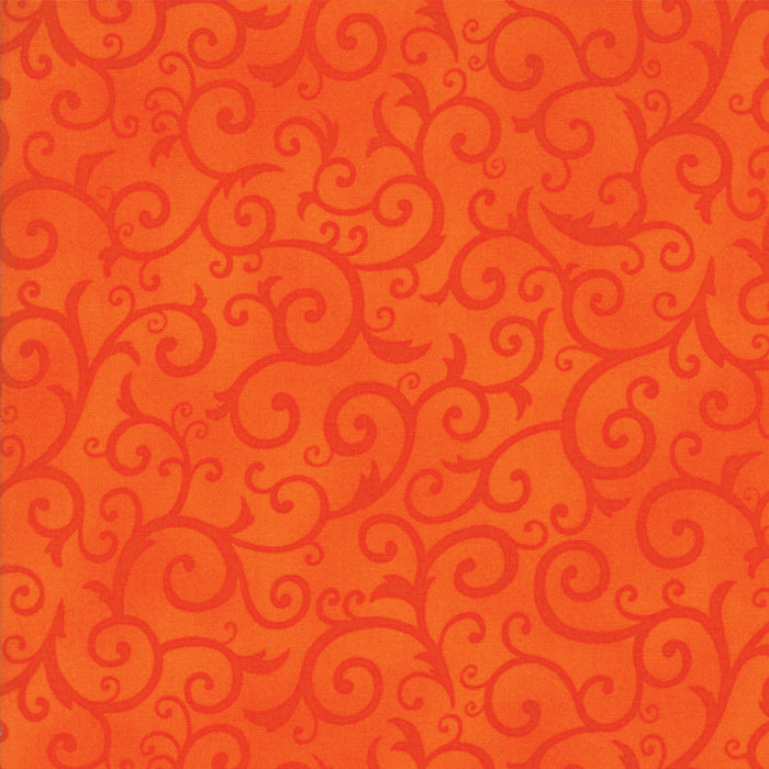 Orange Scary Swirl Fabric