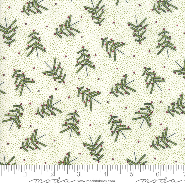 Merry Starts Here by Sweetwater | Green Christmas Tree Farm Fabric