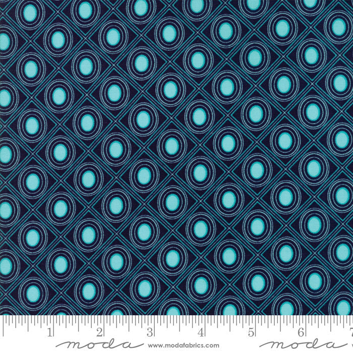 Navy Diamonds Fabric from Coledale Collection at Cherry Creek Fabric