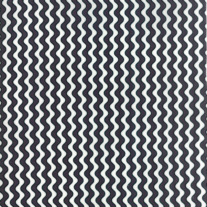 Black Boo Stripes Fabric