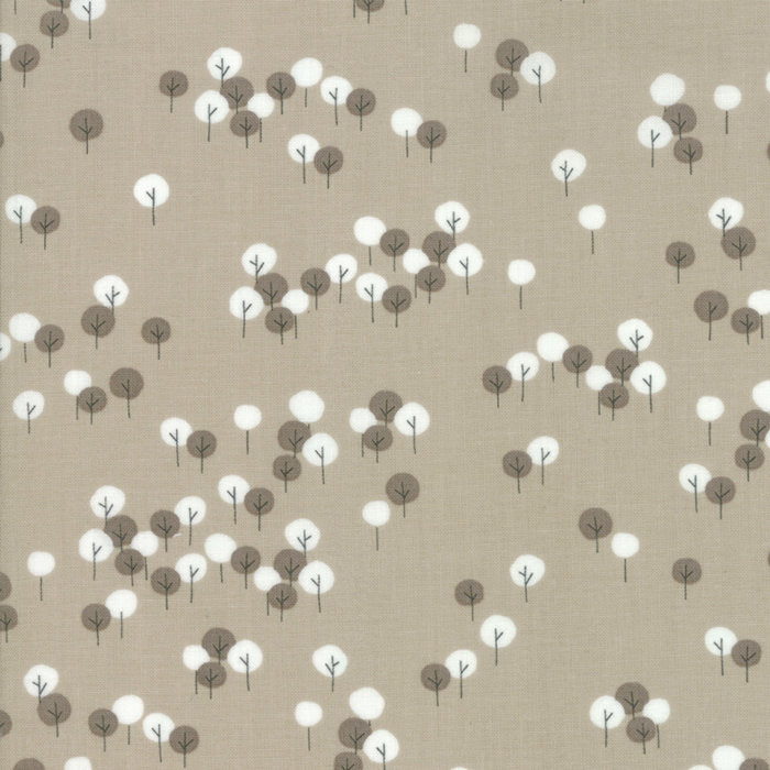 "END OF BOLT 1 yd + 13"" Tan Trees Fabric from Woodland Secrets Collection at Cherry Creek Fabric"