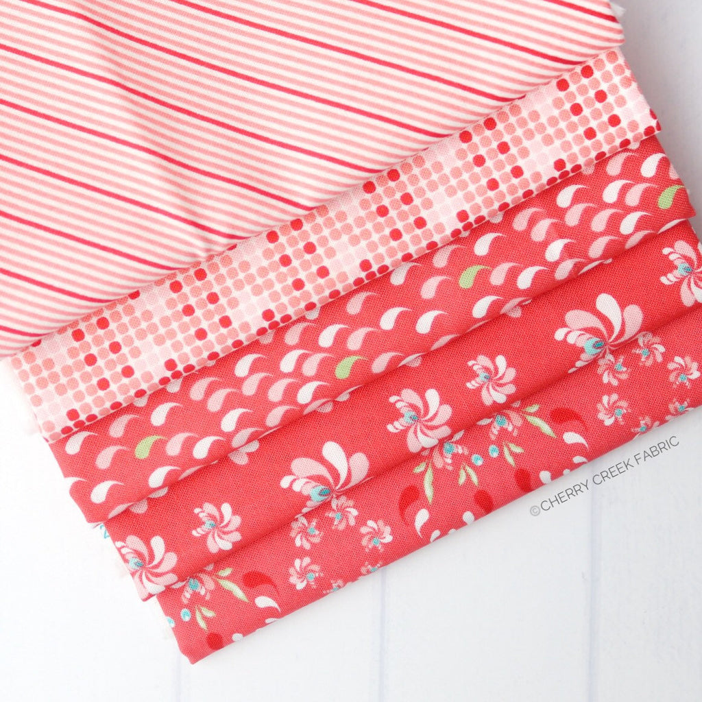 Coledale Red Half Yard Bundle - 5 pieces