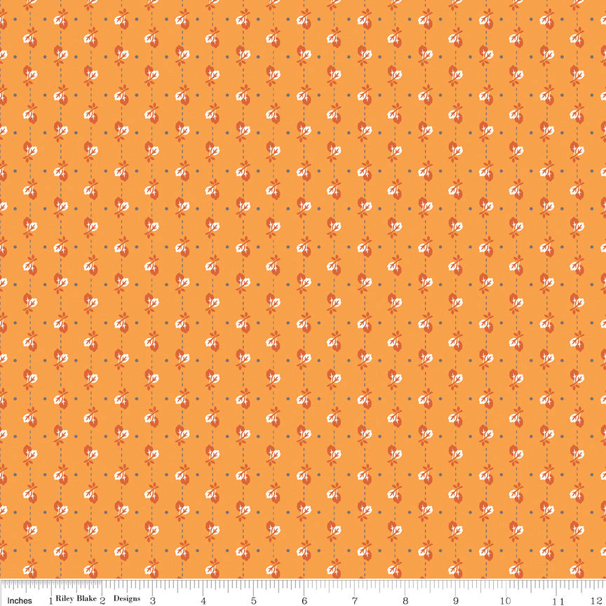 Orange Leaves Fabric from Autumn Love Collection at Cherry Creek Fabric