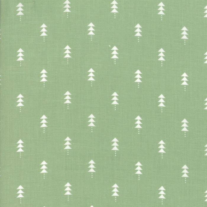 Little Tree by Lella Boutique | Green Christmas Trees Fabric