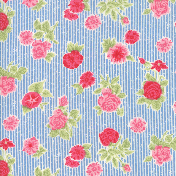 Blue Cottage Floral Fabric from Cottontail Cottage Collection at Cherry Creek Fabric