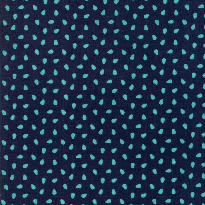 Navy Seeds Fabric