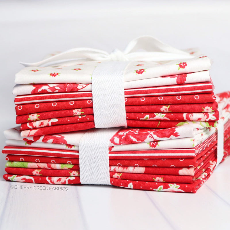 Smitten Red Half Yard Bundle from Smitten Collection at Cherry Creek Fabric