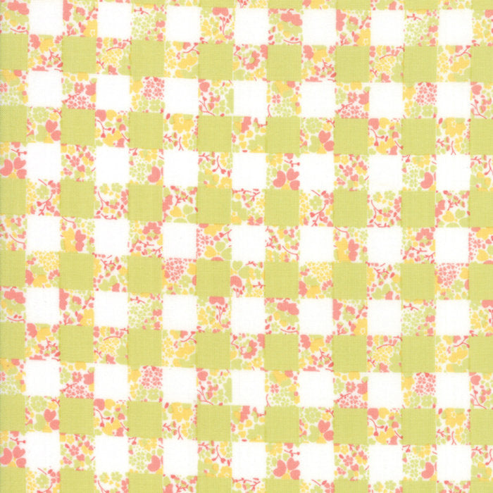 Strawberry Jam Fabric - Green Gingham Garden Fabric - Corey Yoder - Moda Fabric - Floral Fabric - Flower Fabric - Fabric by the Yard from Cherry Creek Fabric & Crafts Collection at Cherry Creek Fabric
