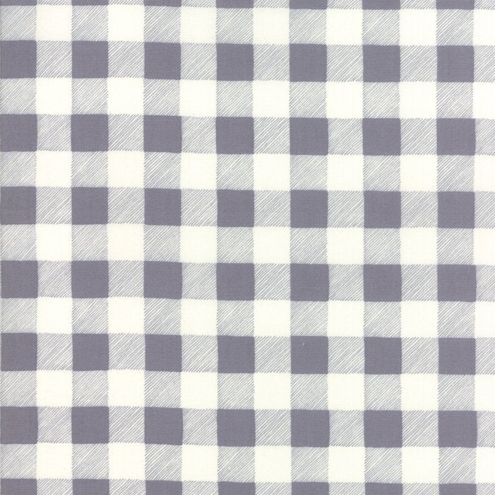 Grey Buffalo Plaid Fabric from Hearthside Holiday Collection at Cherry Creek Fabric