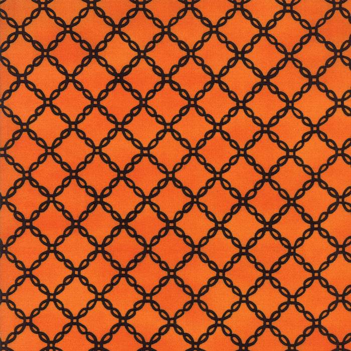 Orange Halloween Lattice Fabric
