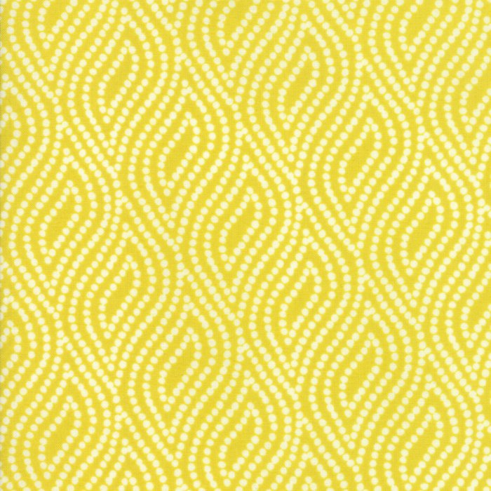 Yellow Dotted Floral Fabric