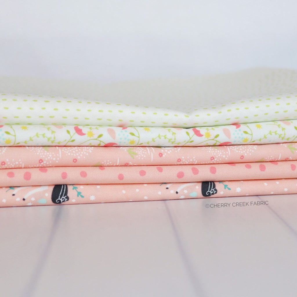 Enchanted Pink One Yard Bundle from Enchanted Collection at Cherry Creek Fabric