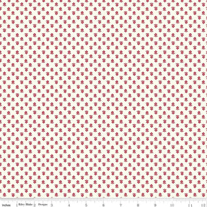 Red Daisy Fabric from Gretel Collection at Cherry Creek Fabric