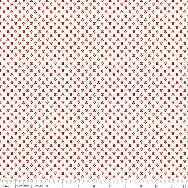 Red Daisy Fabric