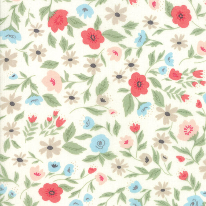 Cream Garden Bed Fabric