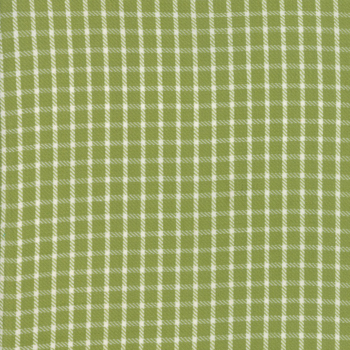 Green Plaid Woven Fabric
