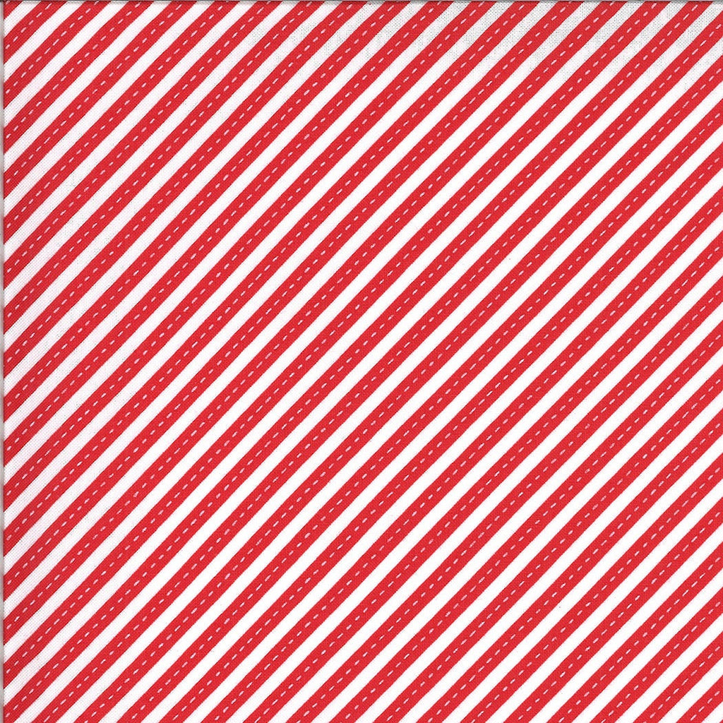 Red Bias Stripes Fabric | On the Go
