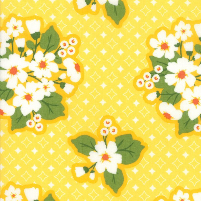 Yellow Last Blooms Fabric